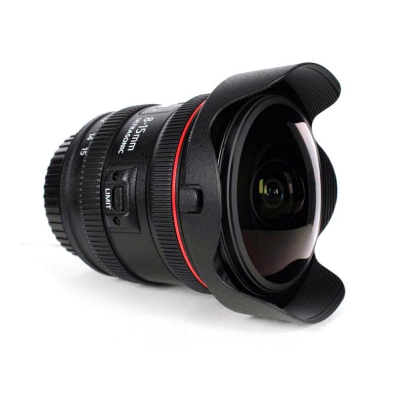 Lente Canon Olho de Peixe 8-15mm c/ Parasol