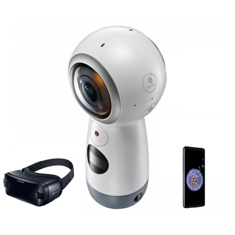 Câmera 4K 360º Gear Samsung